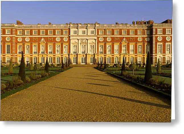 Hamptons Photographs Greeting Cards - Facade Of The Palace, Hampton Court Greeting Card by Panoramic Images