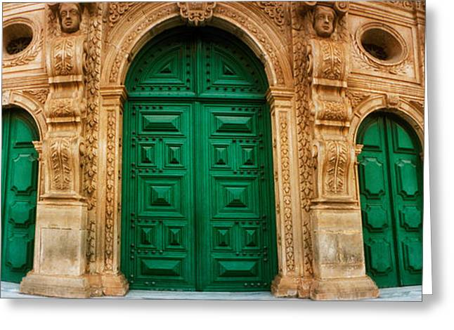 Sao Greeting Cards - Facade Of The Sao Francisco Church Greeting Card by Panoramic Images