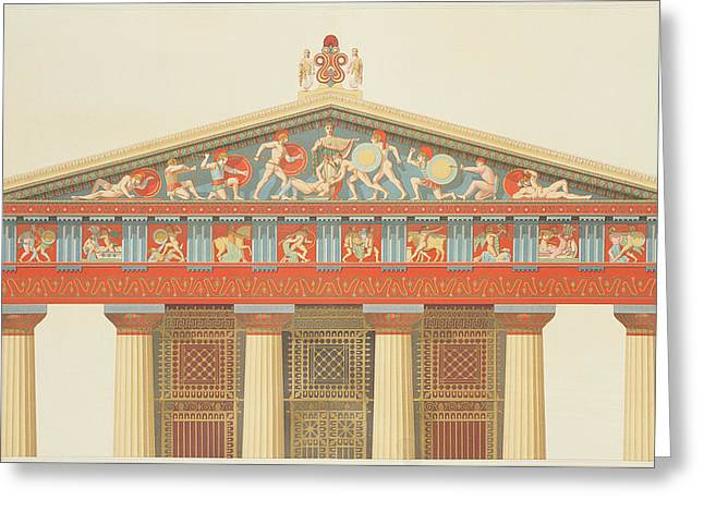 Greek Sculpture Greeting Cards - Facade Of The Temple Of Jupiter Greeting Card by Daumont