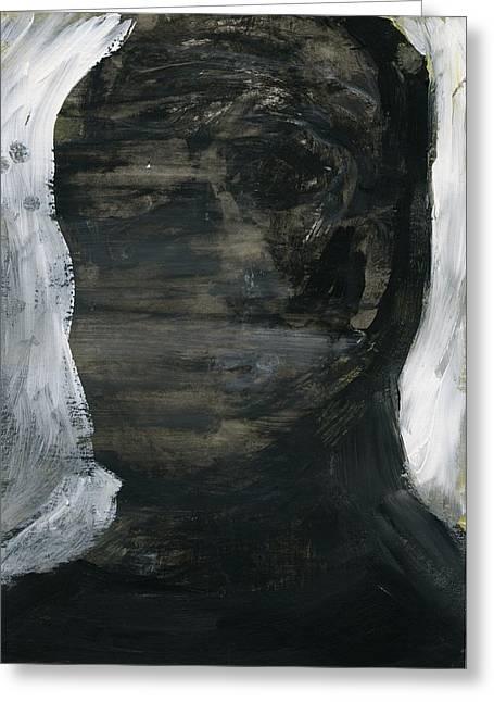 Disfigure Paintings Greeting Cards - Face 17 Greeting Card by Luka Matijas