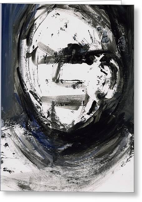 Disfigure Paintings Greeting Cards - Face 4 Greeting Card by Luka Matijas