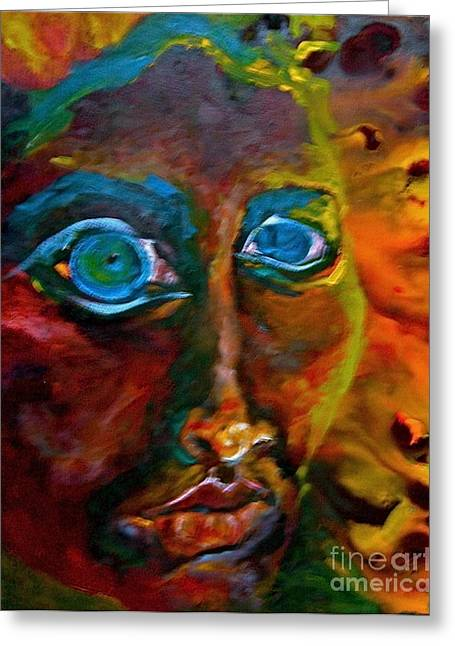 Michelle Dommer Greeting Cards - Face 6 Greeting Card by Michelle Dommer