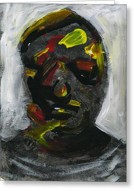 Disfigure Paintings Greeting Cards - Face 7 Greeting Card by Luka Matijas