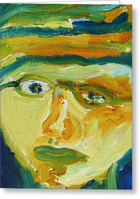 Face Eight Greeting Card by Shea Holliman