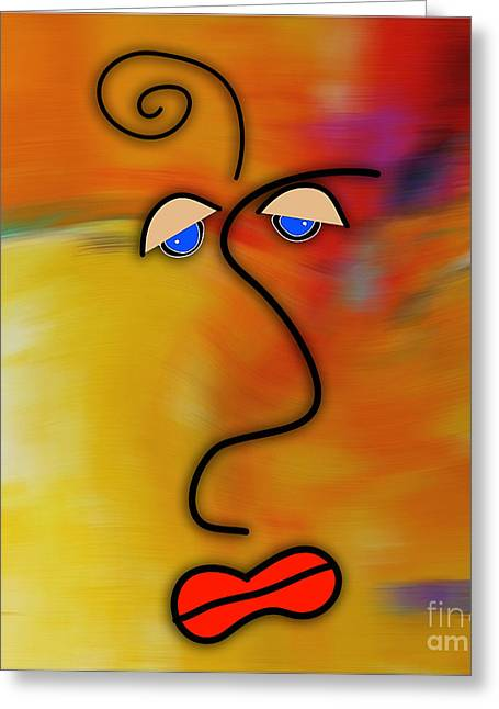 Picasso Greeting Cards - Beauty is in the eye of the beholder Greeting Card by Marvin Blaine