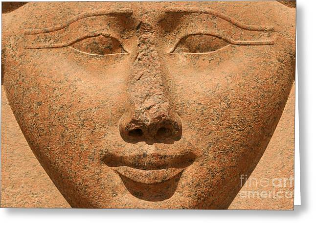 Face Of Hathor Greeting Card by Stephen & Donna O'Meara