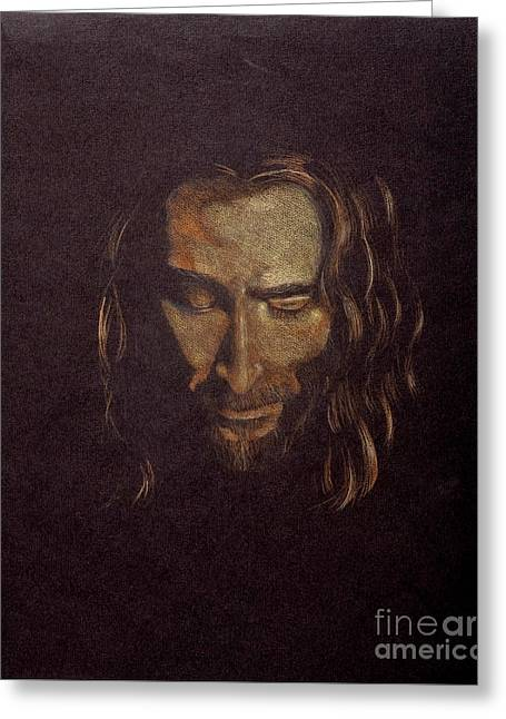 Jesus Christ Pictures Greeting Cards - Face of Jesus Greeting Card by Elizabeth Berg