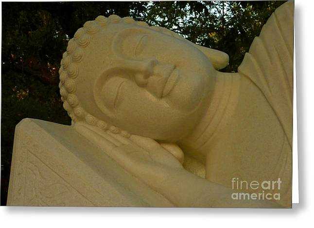 Marble Eye Greeting Cards - Face of Nirvana Greeting Card by Angela Wright
