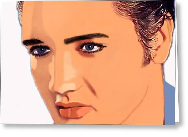 Person Greeting Cards - Face of the King Greeting Card by Lorina Bolig