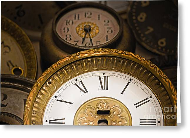Face of time Greeting Card by Tom Gari Gallery-Three-Photography