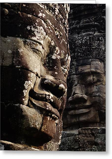 Boddhisatva Greeting Cards - Face the Day Greeting Card by Lauren Rathvon