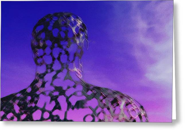 Shorewood Greeting Cards - Face the Future Greeting Card by Charlie Russell