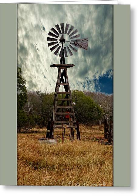 Printed Greeting Cards - Face The Wind - Windmill Photography Art Greeting Card by Ella Kaye Dickey