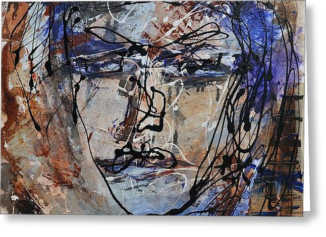 Face to Face Greeting Card by Blue Art