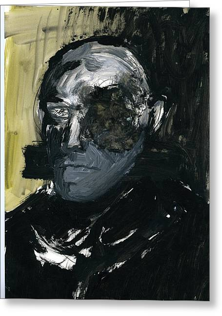 Disfigure Paintings Greeting Cards - Face XIII Greeting Card by Luka Matijas