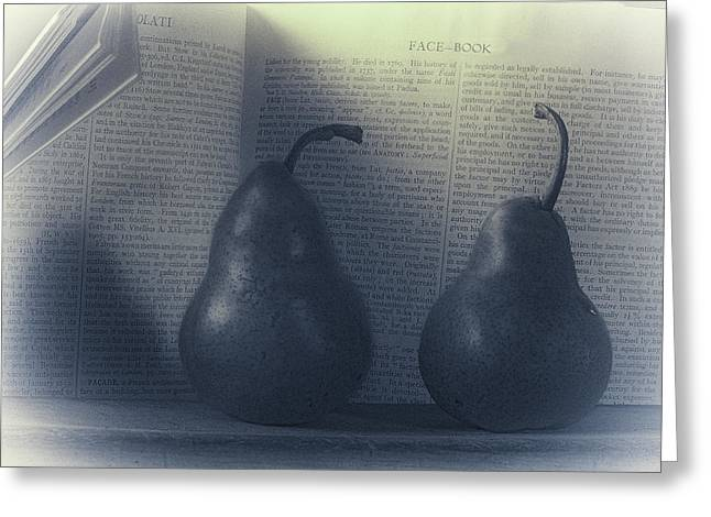 Pear Art Greeting Cards - Facebook Pears Greeting Card by Constance Fein Harding