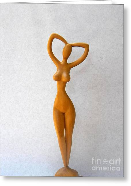 Art Sale Sculptures Greeting Cards - Faceless - Nude Woman Greeting Card by Carlos Baez Barrueto