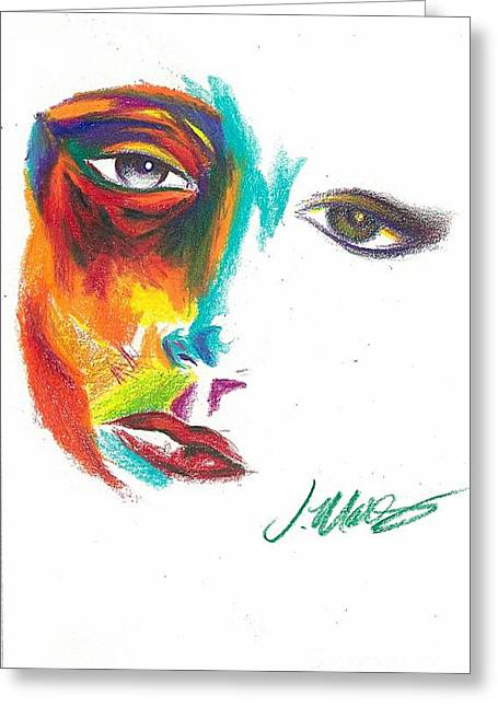 Sorrow Pastels Greeting Cards - FaceOff Greeting Card by Joaquins Mares