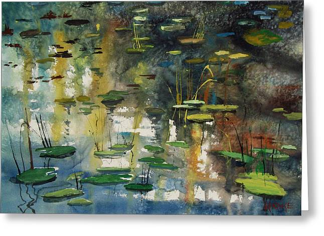 Lily Pads Greeting Cards - Faces in the Pond Greeting Card by Ryan Radke