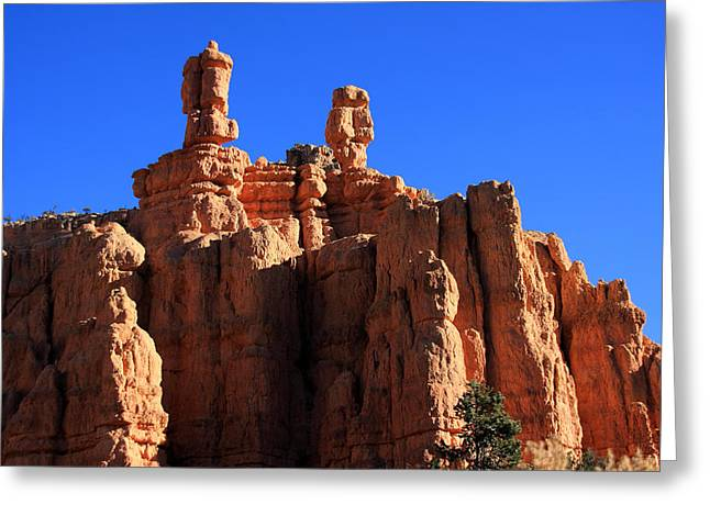 Canyon Country Greeting Cards - Faces In The Red Rock - New Mexico Greeting Card by Aidan Moran