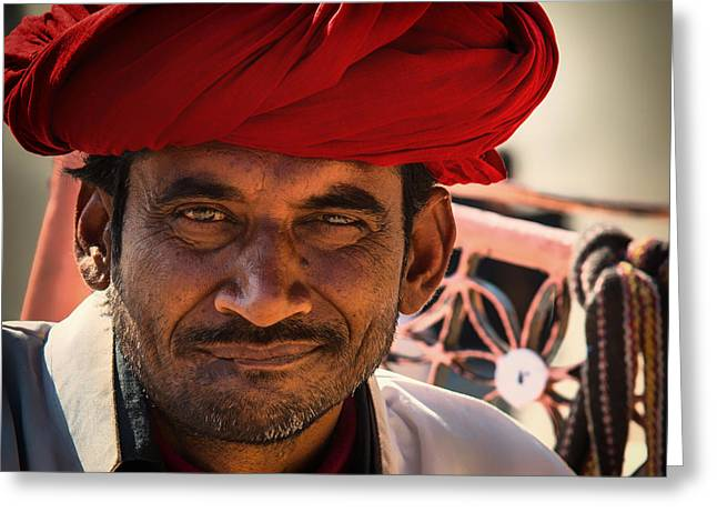 Mustache Greeting Cards - Faces of India Greeting Card by Mountain Dreams