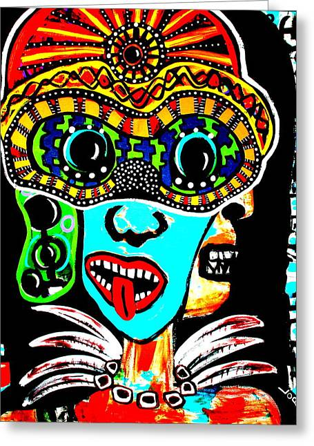 Faces Of Kali Greeting Card by Jamie Lopez