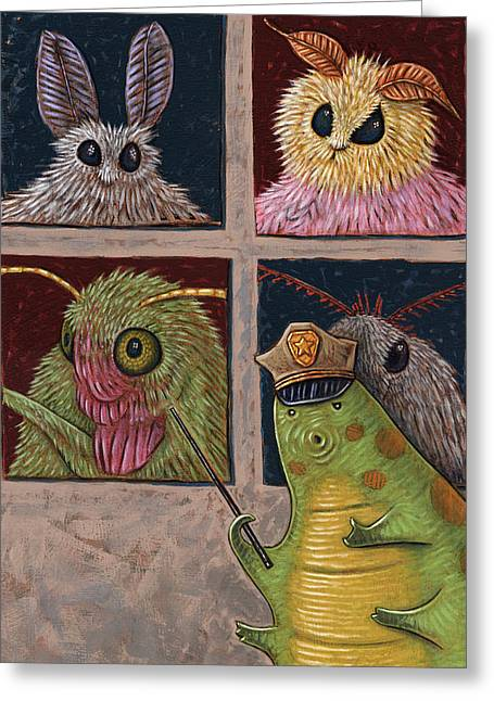 Instructions Paintings Greeting Cards - Faces of Moth Greeting Card by Holly Wood