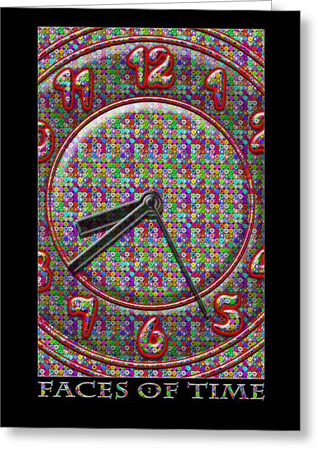 Fine Art Digital Art Greeting Cards - Faces Of Time 2 Greeting Card by Mike McGlothlen