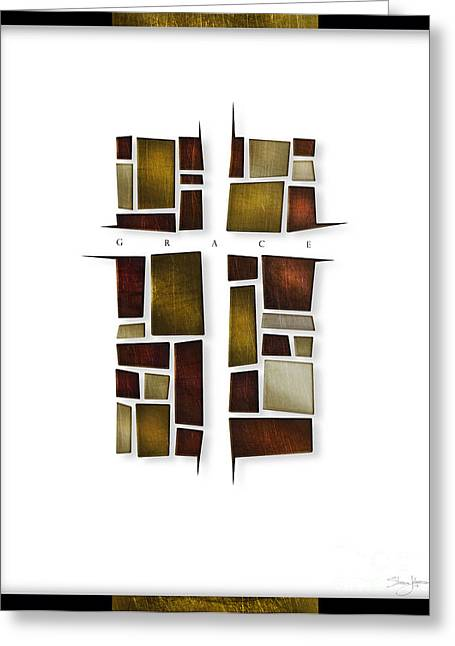 Redemption Mixed Media Greeting Cards - Facets of Grace Greeting Card by Shevon Johnson