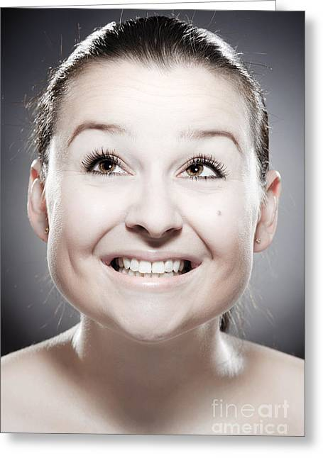 Nonverbal Communication Greeting Cards - Facial Expression Greeting Card by Wolfgang Steiner