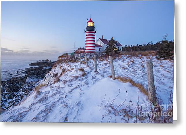 Coastal Maine Greeting Cards - Facing East  Greeting Card by Evelina Kremsdorf