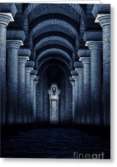 Trepidation Greeting Cards - Facing Fear Greeting Card by Dave Luebbert