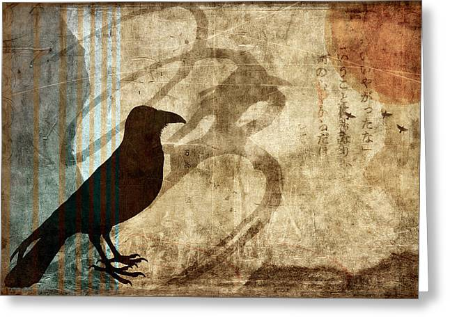 Corvus Greeting Cards - Facing Future Greeting Card by Carol Leigh