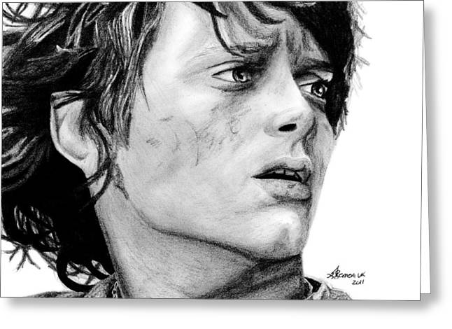 Lord Of The Rings Drawings Greeting Cards - Facing the Darkness Greeting Card by Kayleigh Semeniuk