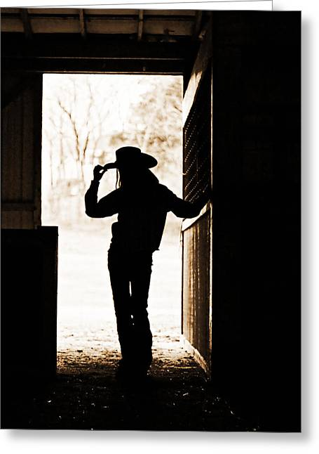 Barn Door Digital Greeting Cards - Facing the Day Greeting Card by Suzanne Barber