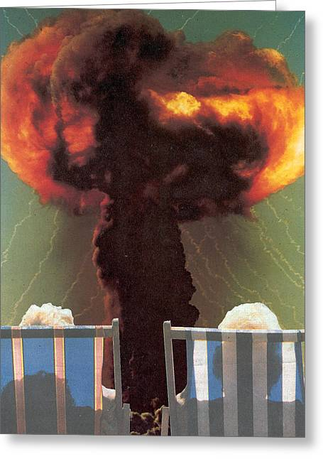 Bombs Mixed Media Greeting Cards - Facing The Future Greeting Card by Jonathon Prestidge
