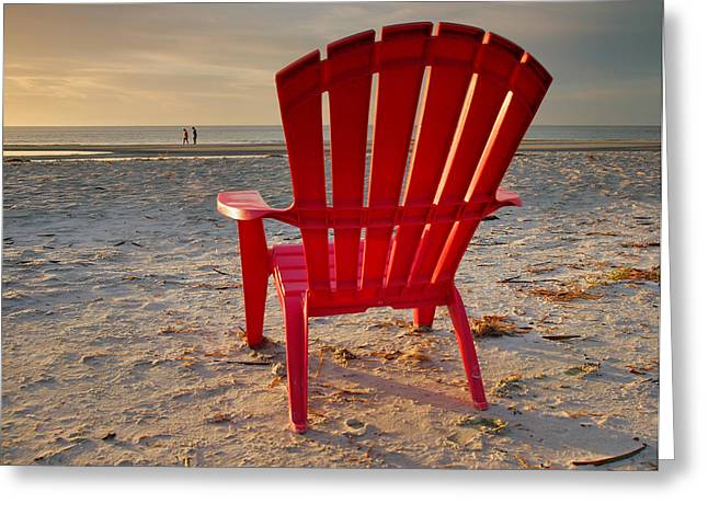 Empty Chairs Greeting Cards - Facing The Music Greeting Card by Steven Ainsworth