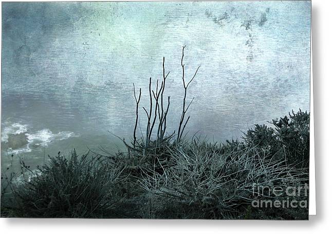 Ocean Shore Digital Greeting Cards - Facing the Unknown Together Greeting Card by Ellen Cotton