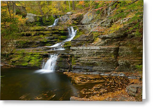 Factory Falls Greeting Card by Mark Robert Rogers