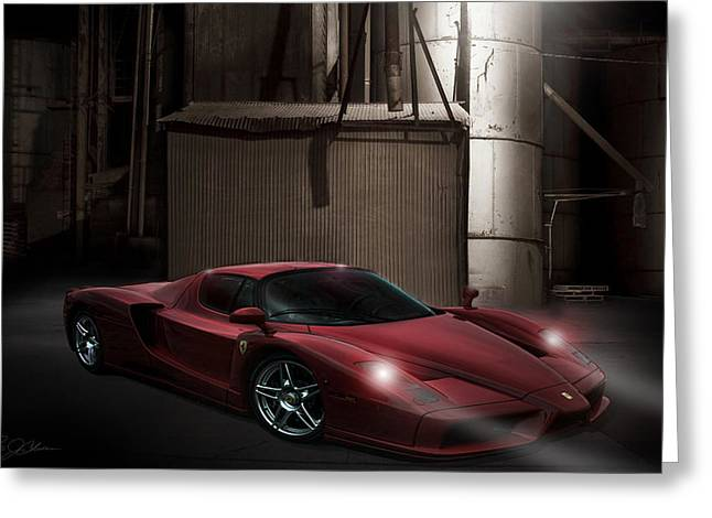 Headlight Greeting Cards - Factory Ferrari Greeting Card by Peter Chilelli