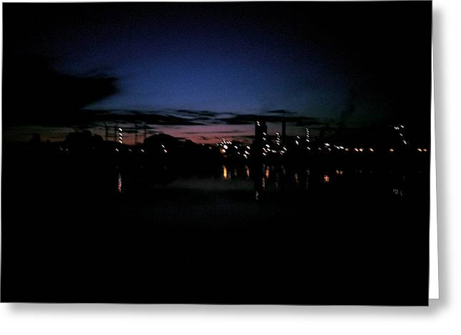 Factory Fjord Sunset Greeting Card by Jonathan Laverick