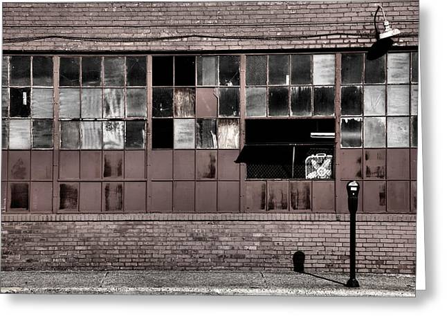 Architecture Metal Prints Greeting Cards - Factory Windows Greeting Card by Steven Ainsworth