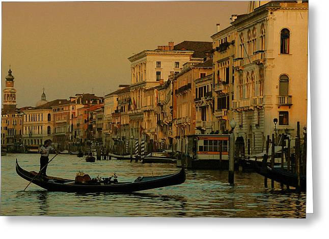Italian Sunset Greeting Cards - Fade to Black Greeting Card by Jim Southwell