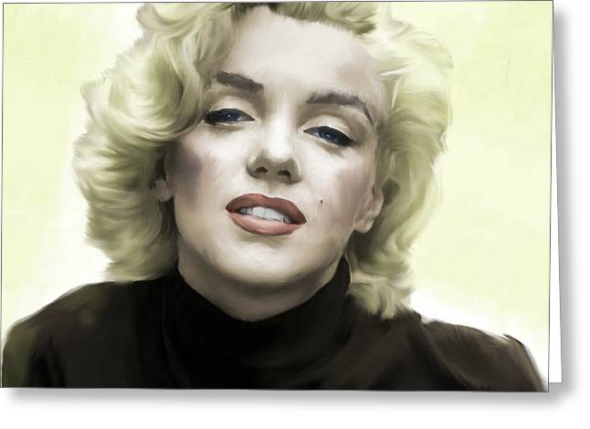Main Street Greeting Cards - Faded Dream Marilyn Monroe Greeting Card by Iconic Images Art Gallery David Pucciarelli
