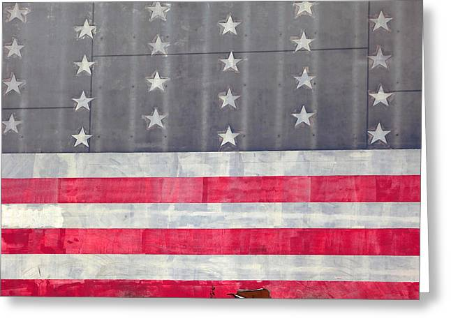 United We Stand Greeting Cards - Faded Glory Greeting Card by Art Block Collections