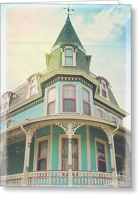 Victorian Home Greeting Cards - Faded Glory Greeting Card by Colleen Kammerer
