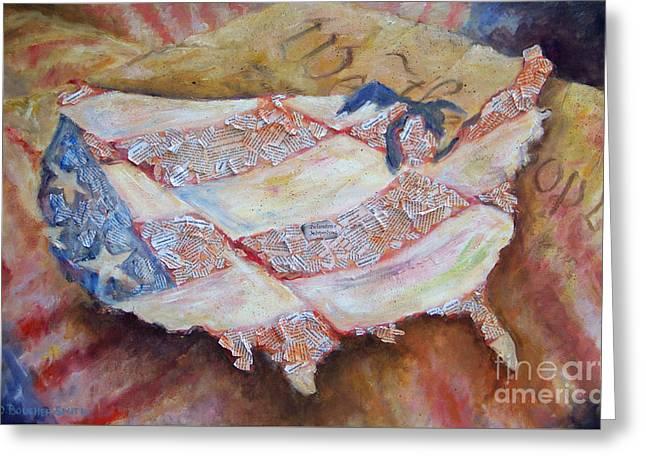 Faded Glory Greeting Card by Deborah Smith
