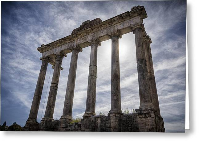 Stones Greeting Cards - Faded Glory of Rome Greeting Card by Joan Carroll