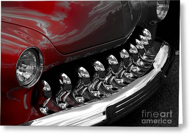 50 Merc Greeting Cards - Faded Hotrod Greeting Card by Chad Thompson