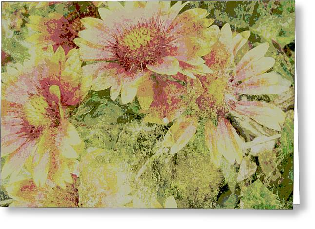 Manipulated Photography Greeting Cards - Faded Love abstract floral art Greeting Card by Ann Powell